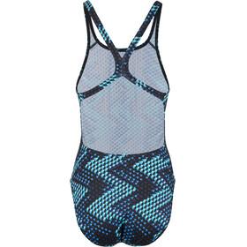 speedo Allover Powerback - Bañador Mujer - azul/Turquesa